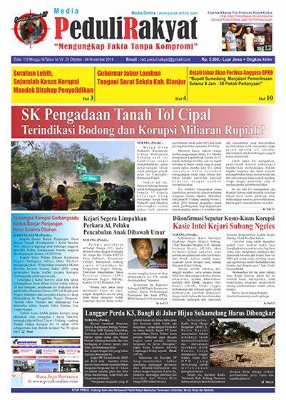 Koran Peduli Rakyat Edisi 110