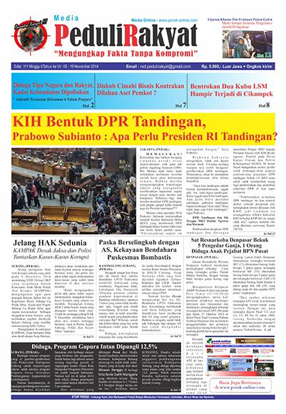 Koran Peduli Rakyat Edisi 111