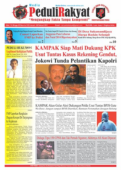 Koran Peduli Rakyat Edisi 116
