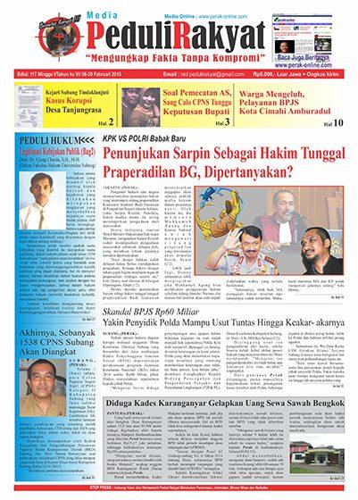 Koran Peduli Rakyat Edisi 117