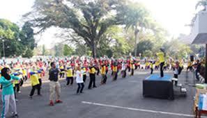 Pemkab Subang Gelar Senam Masal Dalam Rangka Hari Lanjut Usia Nasional (HLUN) 2017