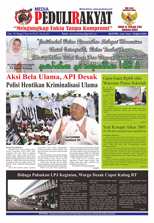 Koran Peduli Rakyat Edisi 167