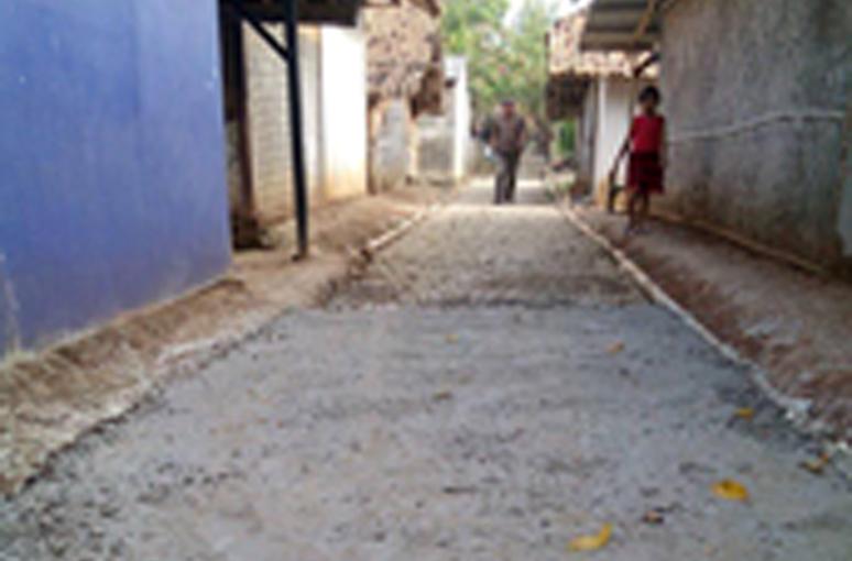 Diduga LPMD Tanjungrasa Kerjakan Jalan Gang Asal-asalan