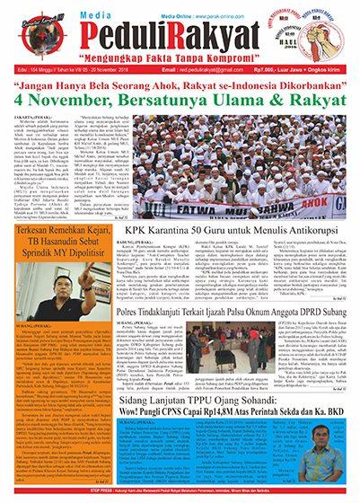 Koran Subang Peduli Rakyat Edisi 154