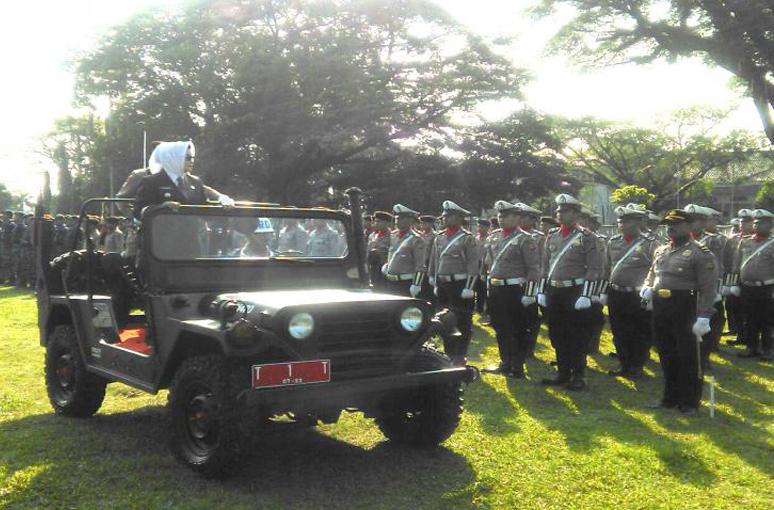 Bupati Subang Imas Aryumningsih Pimpin Upacara HUT Bhayangkara ke-71