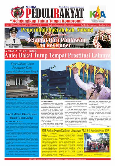Koran Subang Peduli Rakyat Edisi 176