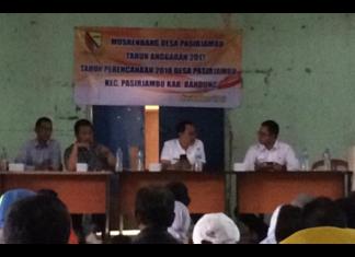 Musrenbang Th 2018 Desa Pasirjambu Prioritaskan Infrastruktur Jalan