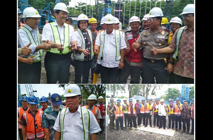 Sejumlah Menteri Kunjungi Pembangunan Underpass Simpang Tugu Ngurah Rai