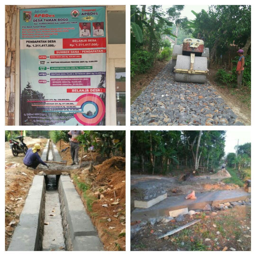 Wujudkan Program DD 2017, Desa Taman Bogo Prioritaskan Bangun Infrastruktur