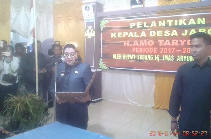 Bupati Subang Lantik 5 kades di 2 kecamatan