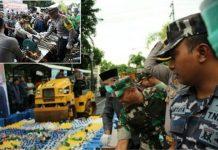 Cipkon Akhir Tahun, Polres Banyuwangi Musnakan Miras Dan Knalpot Brong