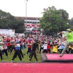 Senam Kebugaran Bersama Ating Rusnatim Meriahkan HUT Subang ke-70 Subang