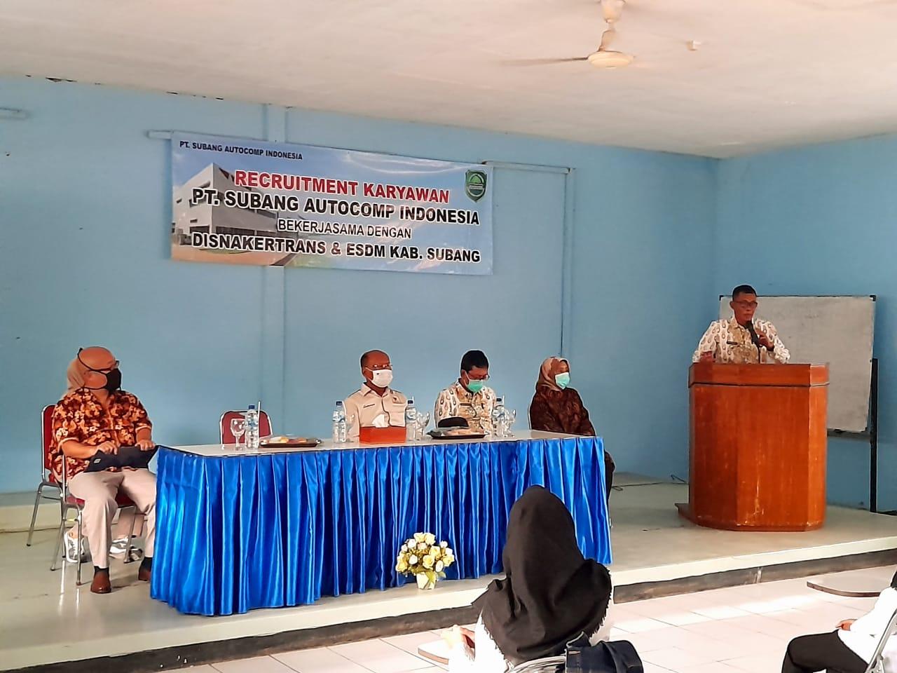 Kang Jimat Tinjau Open Recruitment Karyawan PT SUAI di Disnakertrans